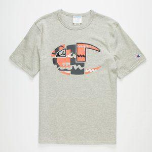 Champion Classic T-Shirt Patchwork Big C Logo Tee